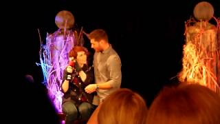 Jensen crashing Felicia's panel