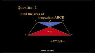 Maths By Amiya Geometry 6 Trapezium Area Similar Triangle