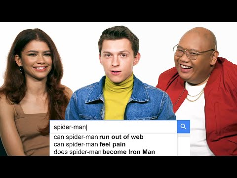 Tom Holland Zendaya & Jacob Batalon Answer the Web s Most Searched Questions WIRED