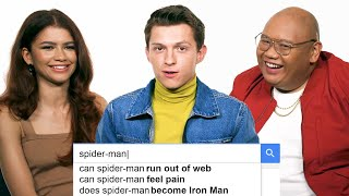 Tom Holland, Zendaya & Jacob Batalon Answer the Web