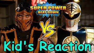WHITE RANGER vs SCORPION!!! (Super Power Beat Down Kid's Reaction)