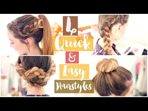 How To 4 Quick & Easy Hairstyles Zoella ad