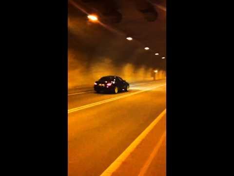 E60 BMW M5 tunnel run