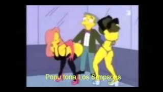 los simpsons bailan Popu tona