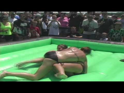 Oil Wrestling Match 1 Bikes & Babes BBQ 2009