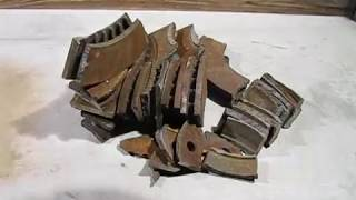 Melting disc brake rotors (crucible camera action)