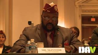 DAV National Commander delivers testimony before Joint Committee