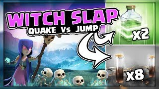 WITCH SLAP 8 QUAKE VS 2 JUMP | TH 9 3 STAR ATTACK STRATEGY | NO BOWLERS! | CLASH OF CLANS