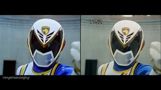 PR SPD/ Dekaranger Omega Ranger First Appearance Split Screen (PR and Sentai version)