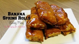 Banana Spring Rolls (Turon) | Eating Pinoy | Hungry for Goodies