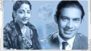 Geeta Dutt, Talat Mahmood : Mohabbat ki duniya mein : Film - Lakeerein (1954)