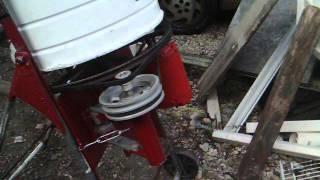 Homemade concrete mixer