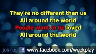 Justin Bieber - All Around The World - Lyrics