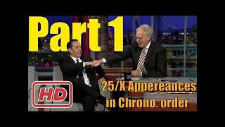 [Talk Shows]Jerry Seinfeld - Letterman is Missing - 25/x Appearances in order Part 1