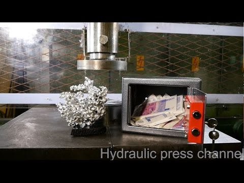 watch Crushing safe and sculpture with hydraulic press