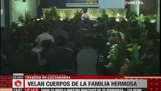 Velan cuerpos de la familia Hermosa, asesinados por un militar en Cochabamba