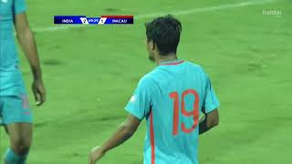 INDIA VS MACAU (4-1) Asian Cup Qualifier 11/10/17 All Goals