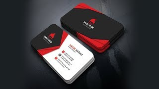Business card design in photoshop cc
