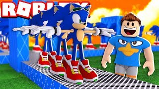 FÁBRICA DO SONIC NO ROBLOX!!