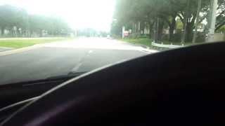 Mustang exhaust under overpass