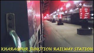 Night departure from KHARAGPUR JUNCTION:WORLD's Third Longest Railway Platform!