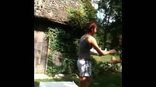 Me and my best friend megan wrestling!(: