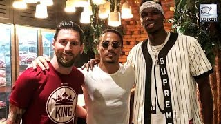 Paul Pogba And Lionel Messi Hosted By Salt Bae In Dubai