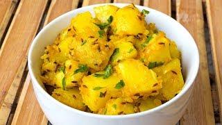 Indian Aloo Jeera Recipe - Potatoes with Cumin - Vegan Vegetarian