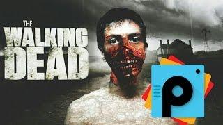 Virus zombie PicsArt tutorial | walking dead