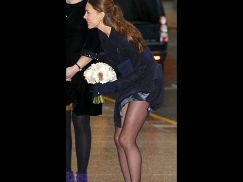 New Kate Middleton suffers Wardrobe malfunction as wind blew up her skirt