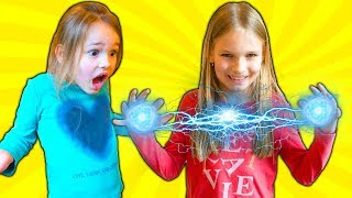 Amelia, Avelina and Akim have adventure fun with magical super powers and a mummy