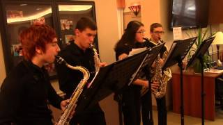 BD Saxophone Quartet - We Wish You a Merry Christmas (12/19/2015)