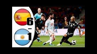 Spain vs Argentina 6-1 - All Goals & Extended Highlights RÉSUMÉ & GOLES ( Last Match ) HD