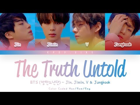 BTS 방탄소년단 Undelivered Truth 전하지 못한 진심 Feat. Steve Aoki Color Coded Lyrics Han Rom Eng