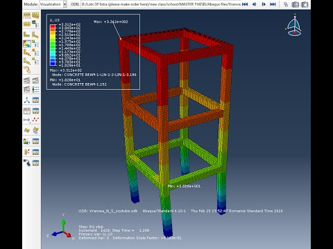 Xxx Mp4 ABAQUS Framed Reinforced Concrete Multi Storey Structure Under Earthquake 3gp Sex