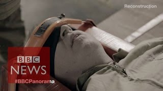 What a waterboarding reconstruction looks like - BBC News