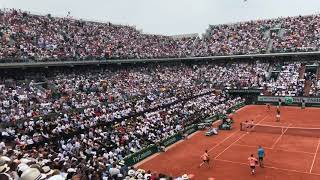 2018 Roland Garros men's final - first set point