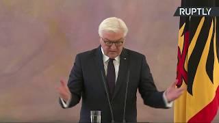 جانب من مؤتمر صحفي للرئيس الألماني فرانك-فالتر شتاينماير