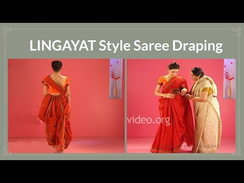 How To Wear A Cotton Saree In Lingayat Style - Tutorial