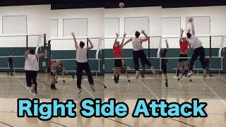 Right Side / Opposite Hitter Spiking TECHNIQUE - How to SPIKE a Volleyball Tutorial