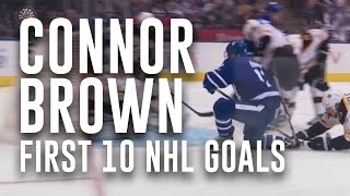 Connor Brown First 10 NHL Goals