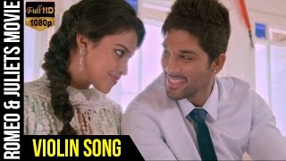Violin Video Song | Romeo & Juliets Malayalam Movie | Allu Arjun | Amala Paul | Iddarammayilatho