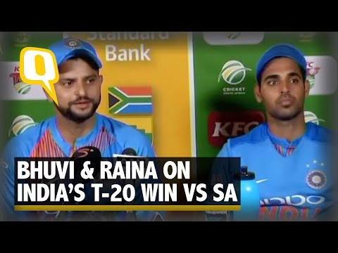 Suresh Raina and Bhuvneshwar Kumar on India's T20 Win Against South Africa | The Quint