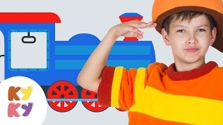 КУКУТИКИ - ПАРОВОЗИК развивающая песня мультик для детей про поезд вагоны трактор машинки животных