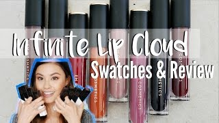 ALL 8 EM COSMETICS INFINITE LIP CLOUD SWATCHES | Brand New Re-Launch Review