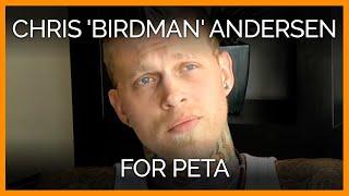 Chris 'Birdman' Andersen for PETA
