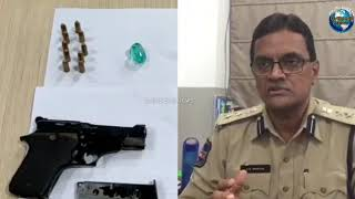 Man Apprehended with Gun, Banjara Hills Police Seized Emerald Stone from his 2 Associates in Hyd