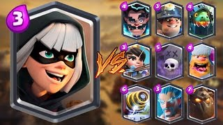 Bandit vs All Cards in Clash Royale | Bandit Gameplay
