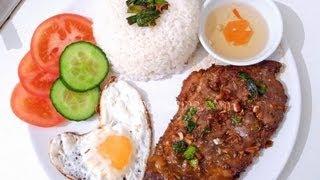 Vietnamese grilled pork chop with broken rice - Com tam suon nuong