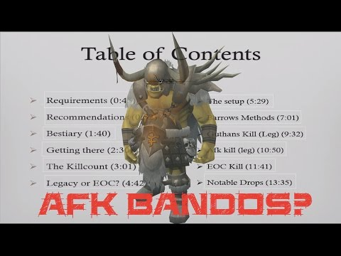 Low Level Bandos (General Graardor) Solo Guide for EOC and Legacy! Runescape 2015!